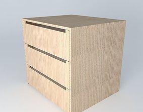 closet internal drawers 3D model