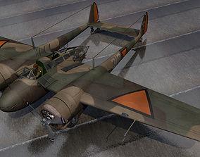 Fokker G-1 Faucher 3D model