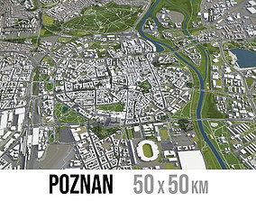 3D model Poznan - city and surroundings