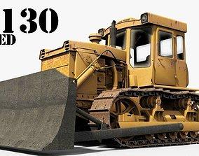 3D model T-130 Tractor