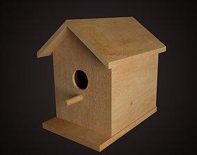 3D asset realtime Wooden Birdhouse