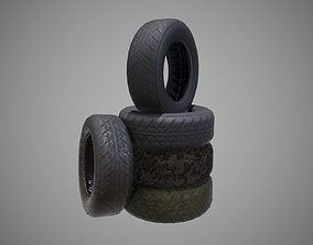 Low polyTire 01 PBR Game-ready 3D model