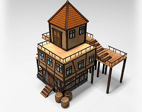 Medieval Tavern Low Poly 3D