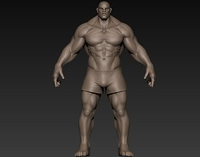 Muscular Man Basemesh 3D anatomy