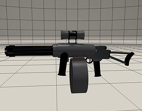 Shoulder fired mini Gatling gun 3D model
