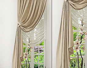 classic rail Curtain 3D model