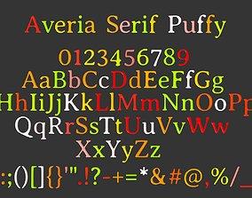 Averia Serif candy 3D model