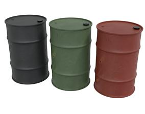 Barrels 3D model realtime