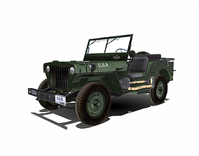 wills MB US Army Truck 3D model