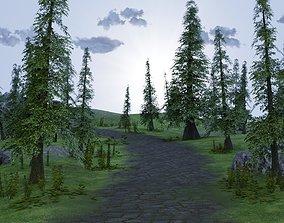 3D model Landscape stone