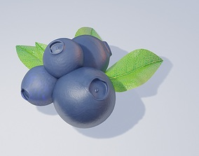 blue berries 3D model