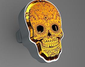 Mexican Skull Venom Ring 3D printable model