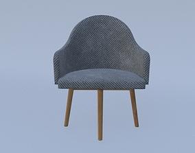 Arm Chair wood 3D model