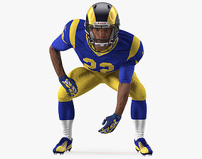 American Football Player LA Rams Rigged 3D