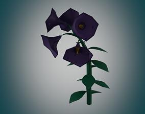 cartoon flower 3D asset botanical