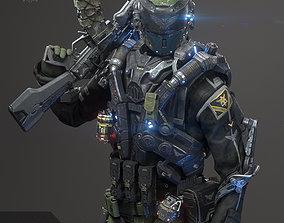 SCIFI - RECON SOLDIER 3D model
