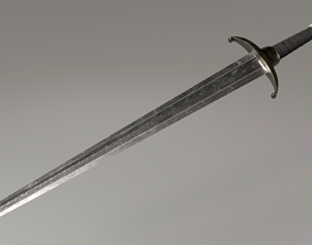 Longclaw Sword Game of Thrones 3D asset