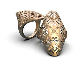Openwork ring A0-301209 3D printable model
