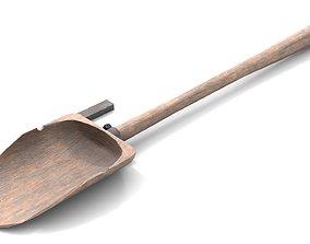 3D asset Ancient Wood Shovel