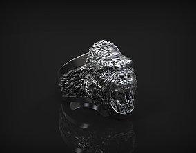Ring of the Gorilla Head 3D print model