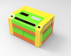3D model animated Laser machine Frame