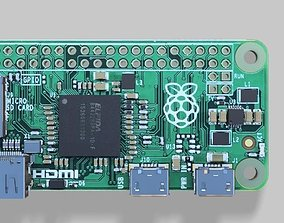 3D model raspberry pi zero w