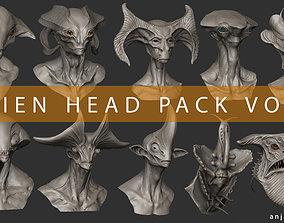 Alien Head Pack Vol 01 3D