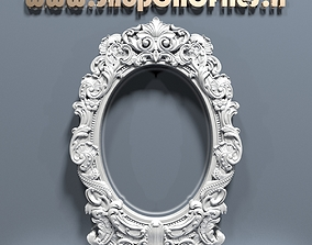 3d carved mirror frame wall-mirror