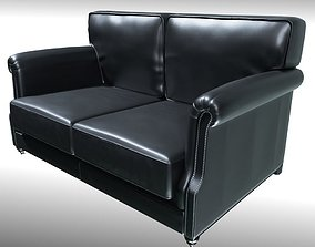 2 seat Sofa - Industrial Style 3D model low-poly