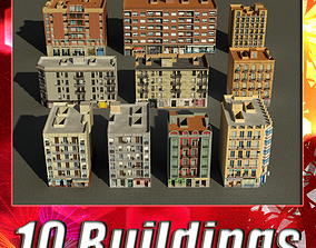 Building Collection 91 - 100 3D asset