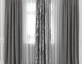 Curtain Set 102C 3D model