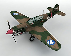 3D model P-40E Warhawk Aircraft