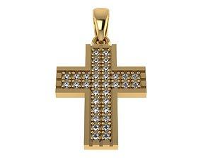 diamond 3D printable model Cross Pendant stl