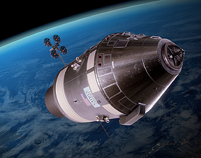 3D asset Apollo command and service module