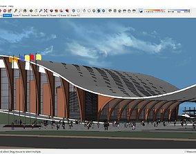 Sketchup 145 - Cultural Center 3D model