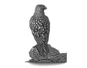 Falcon bas-relief CNC 3D print model