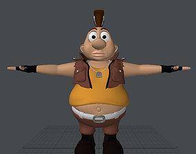 rigged fat boy 3d model