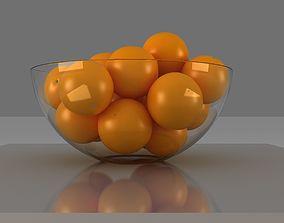 3D orange basket