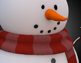Snowman girl 3D model VR / AR ready