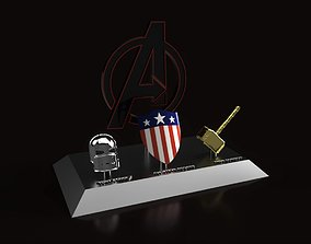 3D print model Avengers weapons showpiece with WW2