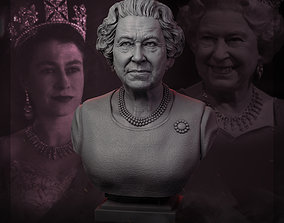 Queen Elizabeth II 3D printable model