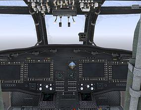 UH-60 Blackhawk Helicopter Cockpit 3D asset