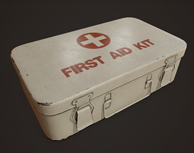 3D model Vintage First Aid Kit - PBR Game Ready