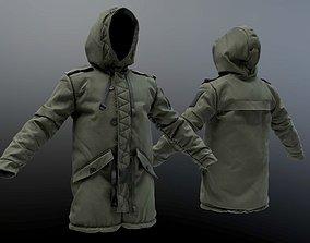 Parka Coat 3D