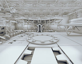 3D Sci Fi Hangar Scene 2