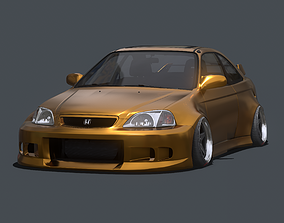 3D model Mantis Widebody Kit For 1999 Honda Civic Si Coupe