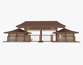 3D Mongolian Building 2