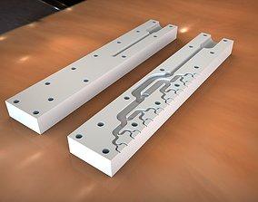 Glue head2One side milling version 3D