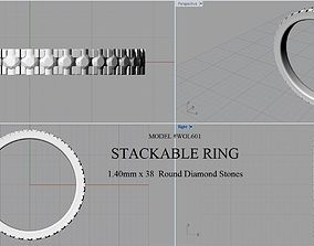 DIAMOND STACKABLE RING 3D print model