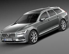 3D Volvo V90 Estate 2017